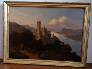 Ölbild Schloss Stolzenfels