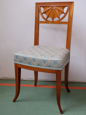 2 Stühle Kirschbaum Klassizismus